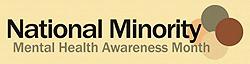 national minority mental health awareness month